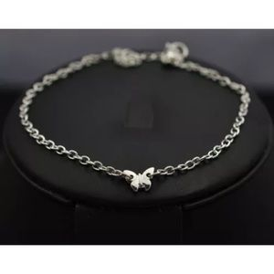 Silver Butterfly Charm Anklet